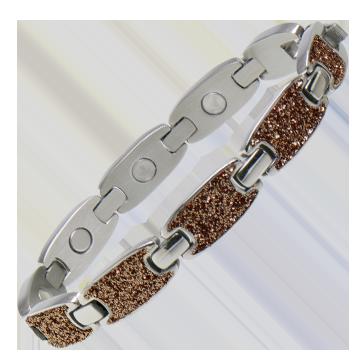 Caribbean Sand Magnetic Bracelet in Silver