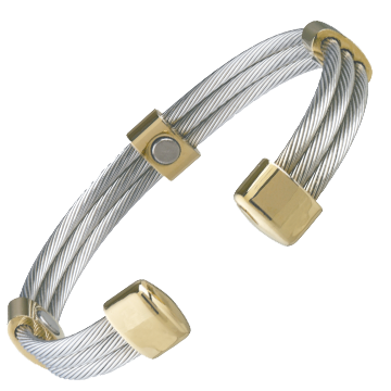 Trio Cable Stainless/Gold Magnetic