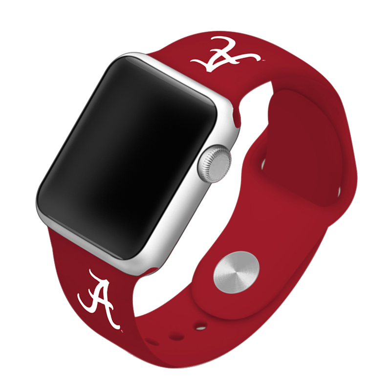 University of Alabama Crimson Tide Silicone Sport Band for Apple Watch®