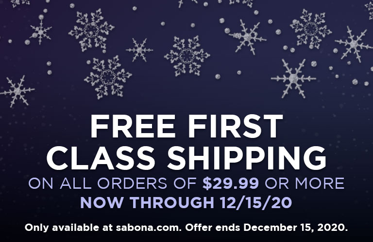 Free first class shipping on orders $29.99 or more!