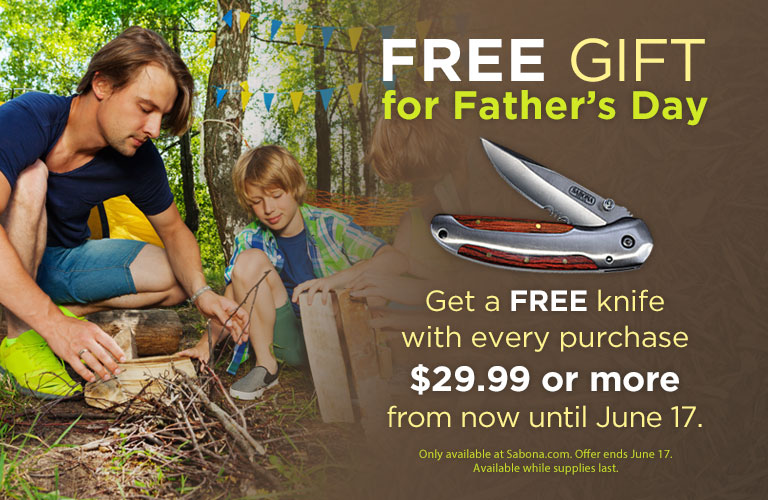 Free Knife for Father's Day!