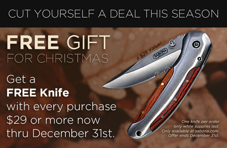 Free Knife with Purchase!