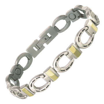 Silver Horseshoe Duet Magnetic Bracelet