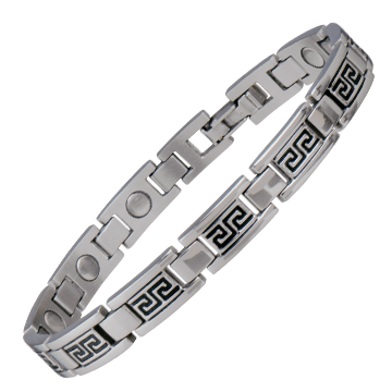 Lady Greek Key Stainless Magnetic Bracelet