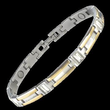 Lady Executive Gem Duet Magnetic Bracelet