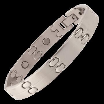 Executive Sport Silver Magnetic Bracelet