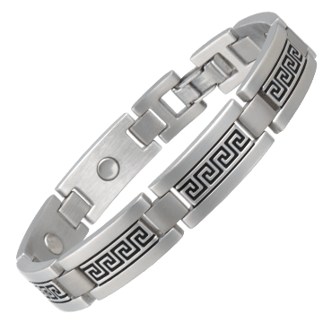 Greek Key Stainless Magnetic Bracelet