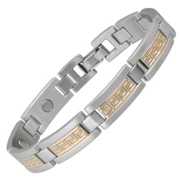 Greek Key Duet Magnetic Bracelet