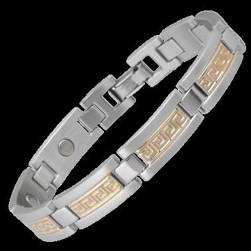 Greek Key Duet Magnetic Bracelet