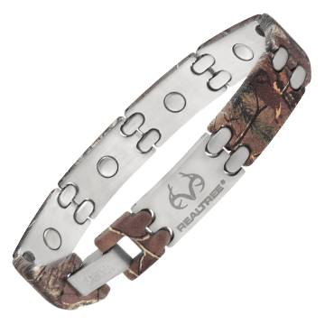 REALTREE® Camo Stainless Sport Magnetic Bracelet