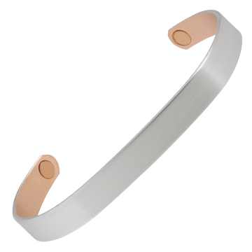 Brushed Silver Original Copper Magnetic Bracelet