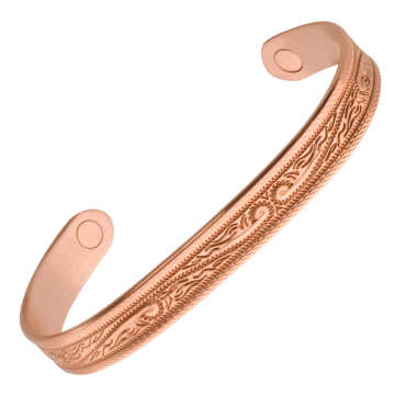 Western Scroll Magnetic Wristband