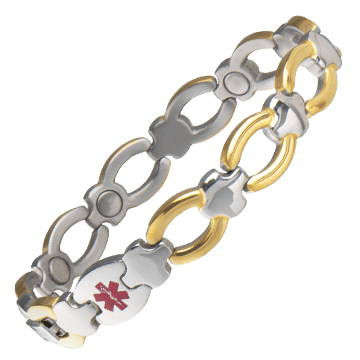 Ladies' Magnetic Med ID Bracelet - Custom Engraved