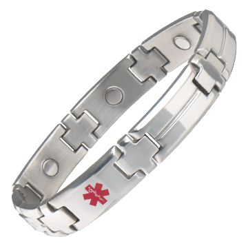 Men's Magnetic Med ID Bracelet - Custom Engraved