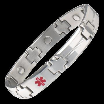 Men's Magnetic Med ID Bracelet - Custom Engraved