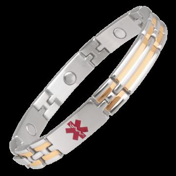 Unisex Magnetic Med ID Bracelet - Custom Engraved