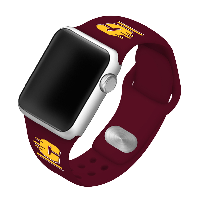 Central Michigan University Chippewas Silicone Sport Band for Apple Watch®