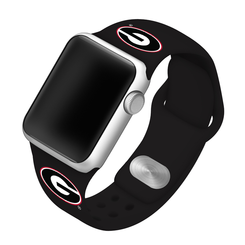 University of Georgia Bulldogs Silicone Sport Band for Apple Watch®