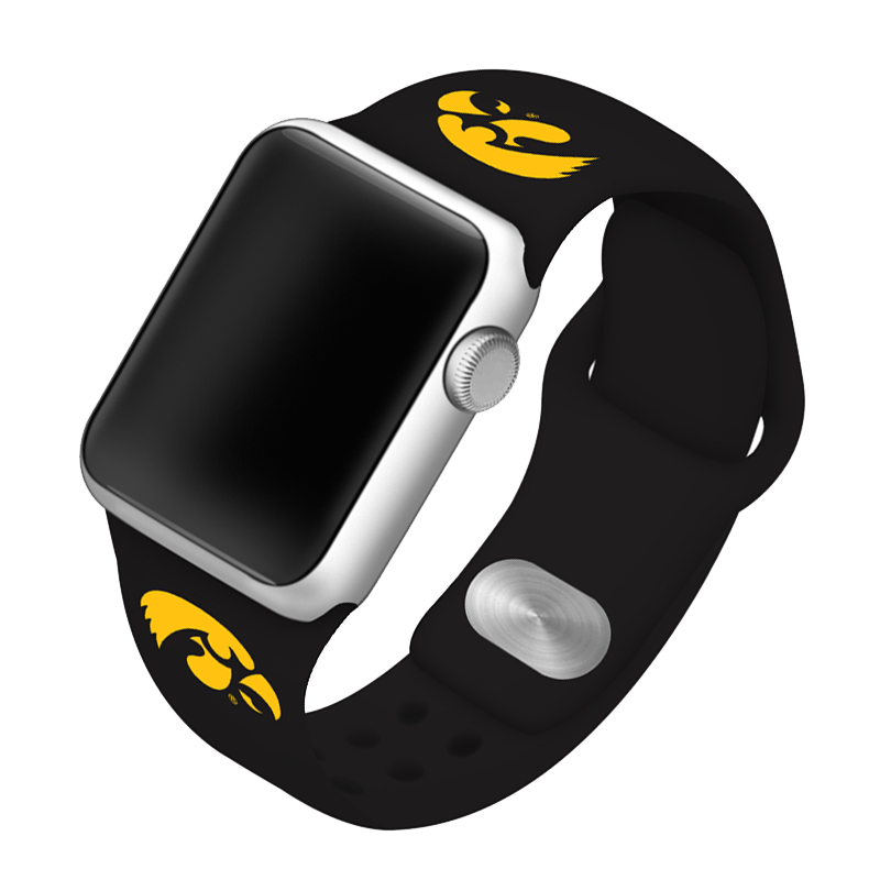 University of Iowa Hawkeyes Silicone Sport Band for Apple Watch®