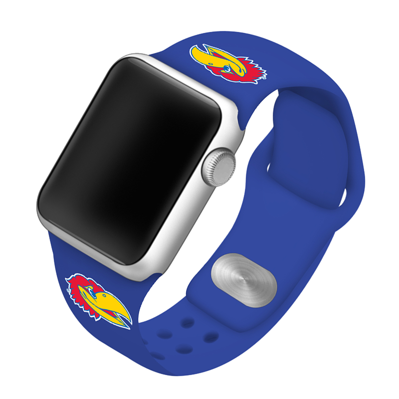 University of Kansas Jayhawks Silicone Sport Band for Apple Watch®