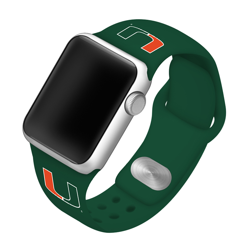 University of Miami Hurricanes Silicone Sport Band for Apple Watch®