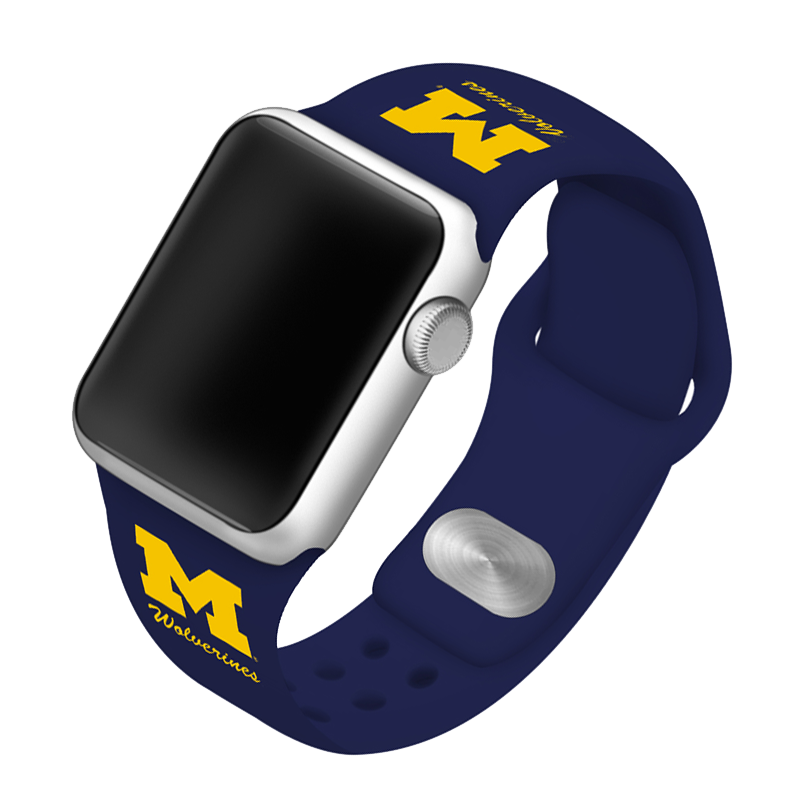 University of Michigan Wolverines Silicone Sport Band for Apple Watch®