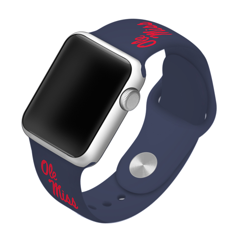 University of Mississippi Ole Miss Rebels Silicone Sport Band for Apple Watch®