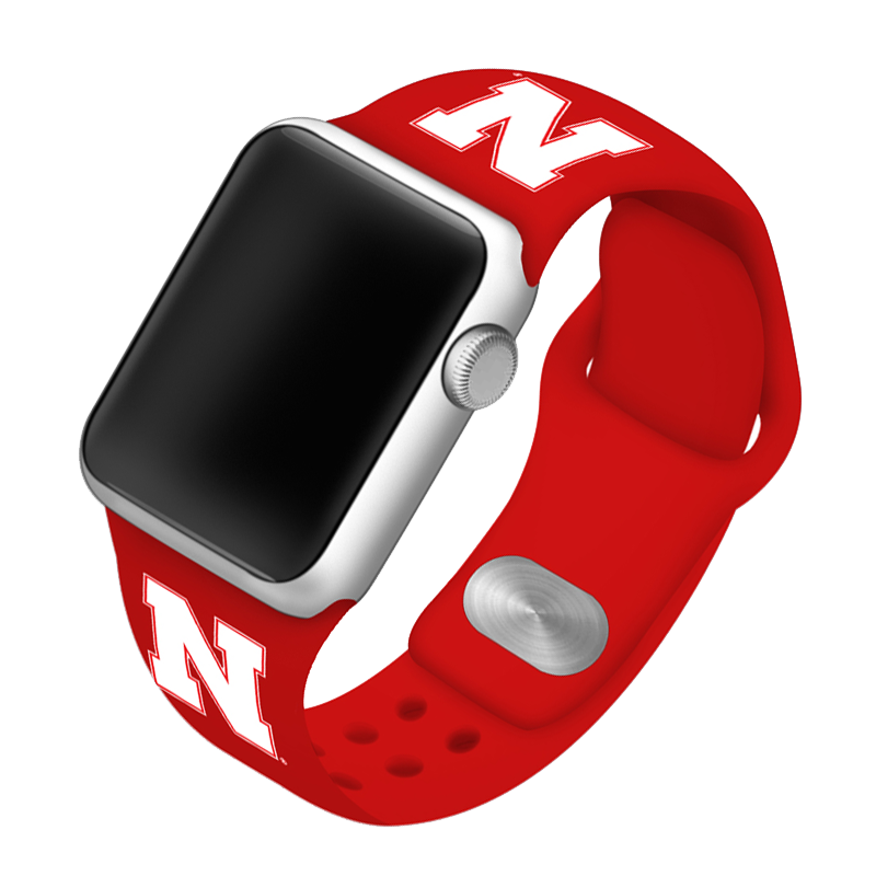 University of Nebraska Huskers Silicone Sport Band for Apple Watch®