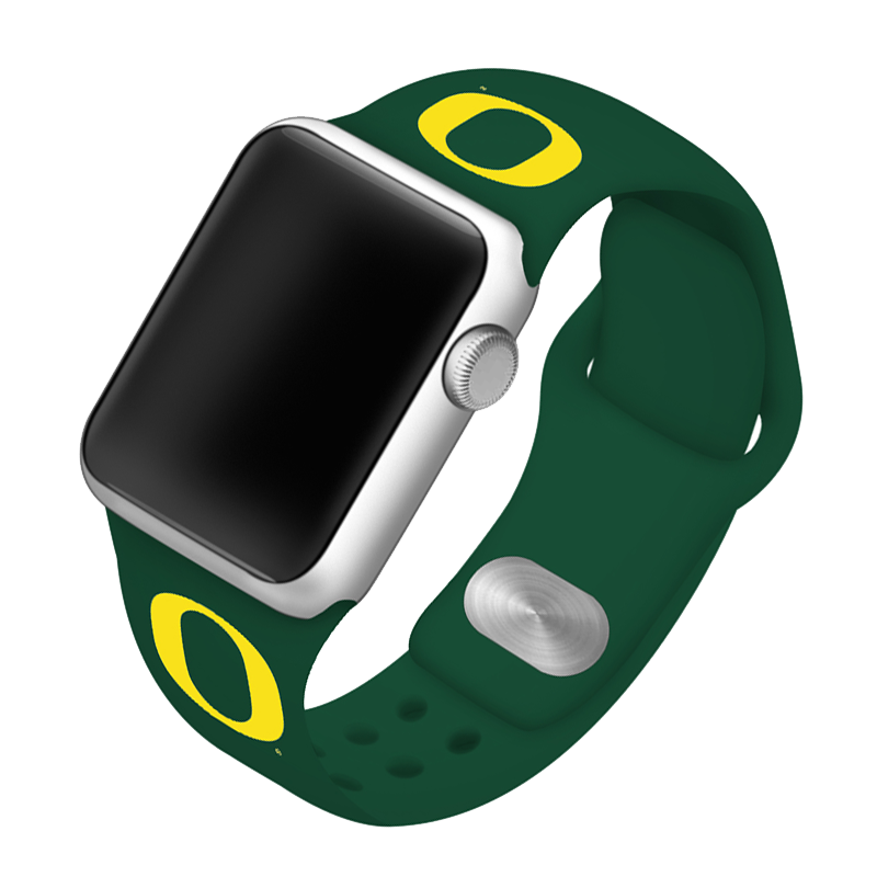 University of Oregon Ducks Silicone Sport Band for Apple Watch®