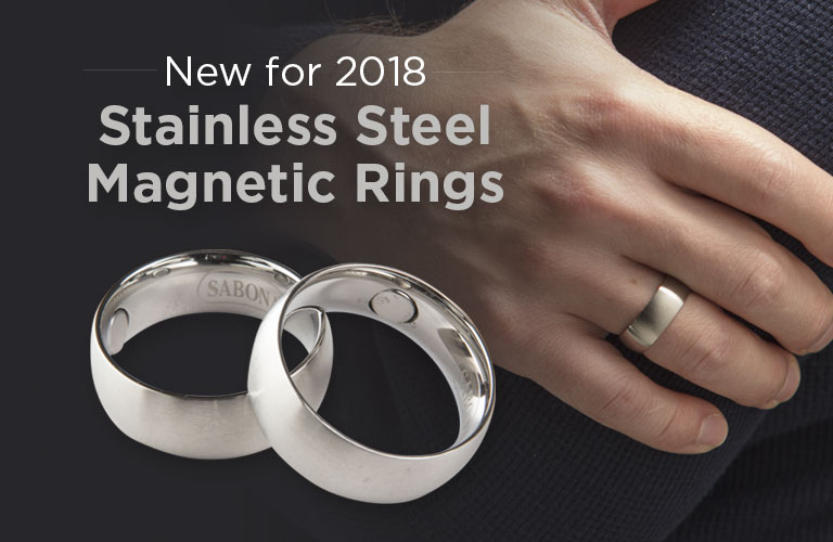 New for 2018, Stainless Steel Magnetic Rings