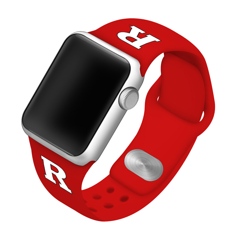 Rutgers University Scarlet Knights Silicone Sport Band for Apple Watch®