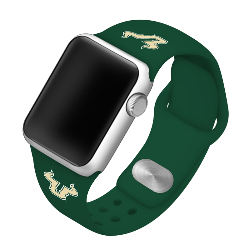 University of South Florida Bulls Silicone Sport Band for Apple Watch®