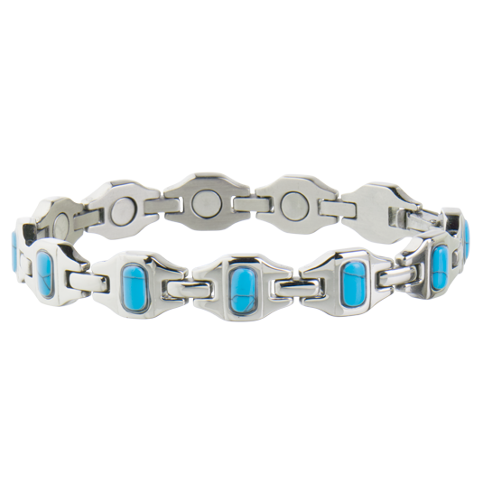 Bright Stainless Turquoise Magnetic Bracelet