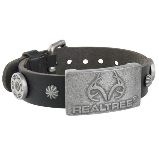 Realtree Black Leather Magnetic Wristband