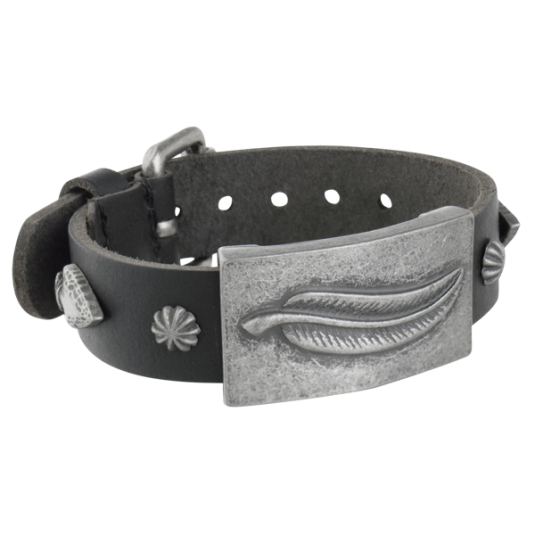 Spirit Black Leather Magnetic Wristband
