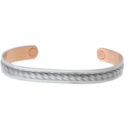 Silver Rope Magnetic Wristband