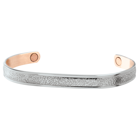 Silver Pebble Magnetic Wristband