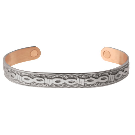 Silver Barb Magnetic Wristband