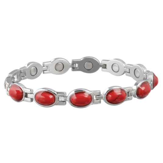Lady Red Turquoise Magnetic Bracelet