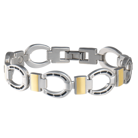 Men's Horseshoe Duet Magnetic Bracelet