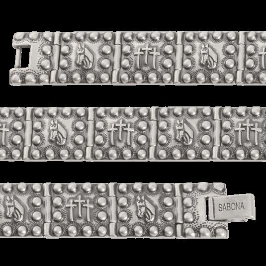 Antique Horsehead Crosses Magnetic Bracelet, straight