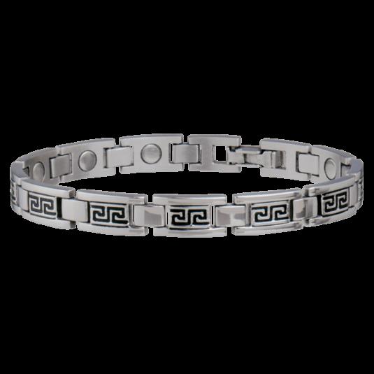 Lady Greek Key Stainless Magnetic Bracelet
