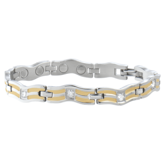 Lady Serpentine Silver Magnetic Bracelet