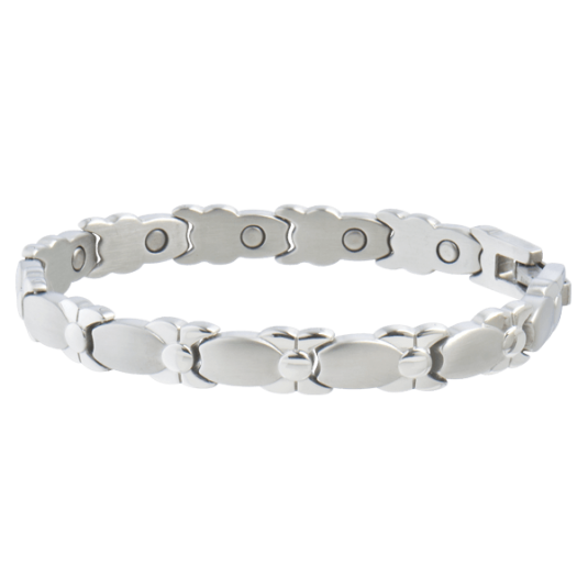 Lady Silver Bows Magnetic Bracelet