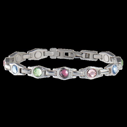 Lady Executive Multicolor Gem Magnetic Bracelet