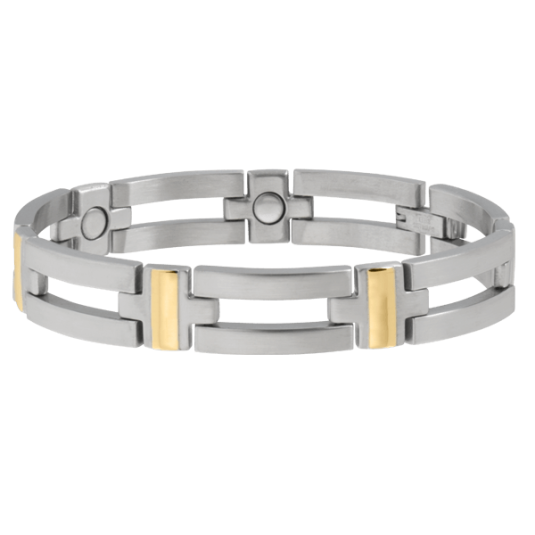 Executive Crossbar Duet Magnetic Bracelet