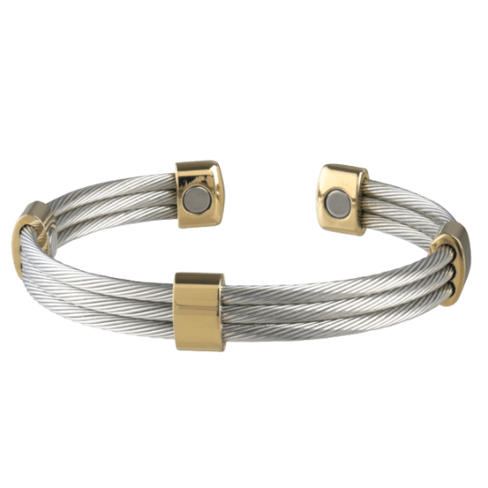 Trio Cable Stainless/Gold Magnetic, back