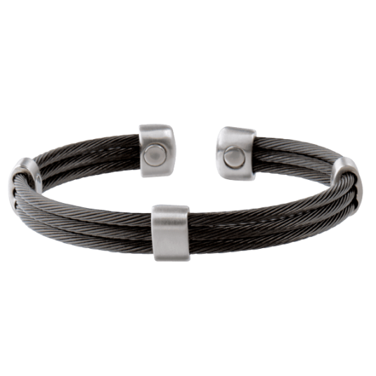 Trio Cable Black/Satin Stainless Magnetic, back