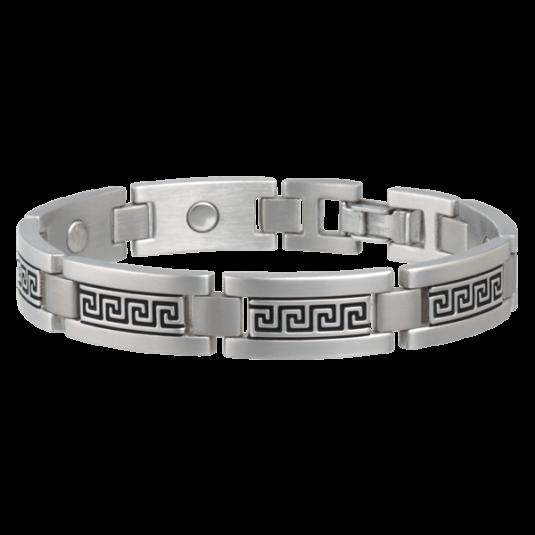 Greek Key Stainless Magnetic Bracelet