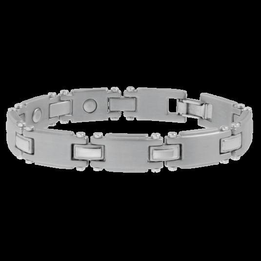 Titanium Silver Magnetic Bracelet